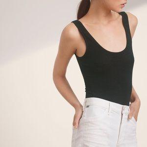 Aritzia Wilfred Free Daniela black bodysuit